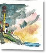 Lighthouse On The Hill Metal Print