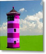 Lighthouse On The Island Metal Print