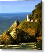 Lighthouse On The Oregon Coast Metal Print