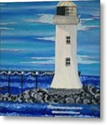 Lighthouse On The Shannon Metal Print