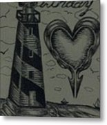 Lighthouse Out In The Sea Metal Print