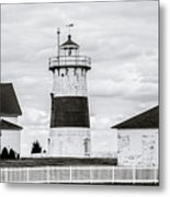 Lighthouse Point In Black And White #5 Metal Print