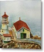 Lighthouse Point Reyes California Metal Print