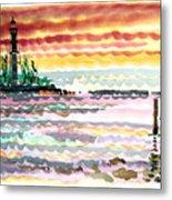 Lighthouse Point Sunrise Metal Print