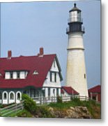 Lighthouse - Portland Head Maine Metal Print