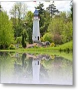 Lighthouse Reflection Metal Print