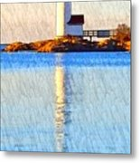 Lighthouse Reflection Metal Print