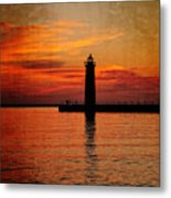 Lighthouse Silhouette  Metal Print