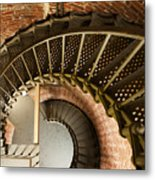 Lighthouse Stairs Cape Blanco Oregon 2 Metal Print