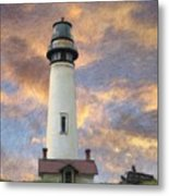 Lighthouse Visitors Metal Print