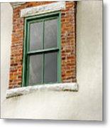 Lighthouse Windows Metal Print