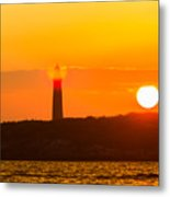 Lighthouse With Flare Metal Print