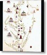 Lighthouses Of The Chesapeake Bay Metal Print