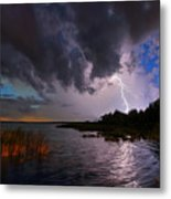 Lighting On The Lake Metal Print