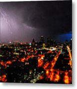 Lighting Over Kansas City Metal Print