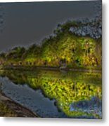Lighting The Erie Canal Metal Print