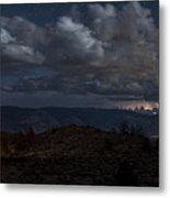 Lightning And Light Trails Metal Print