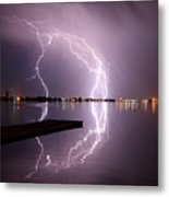 Lightning And Water Metal Print