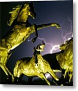 Lightning At Horse World Fine Art Print Metal Print
