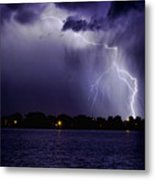 Lightning Bolt Energy Color Metal Print