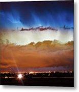 Lightning Cloud Burst Boulder County Colorado Im34 Metal Print