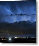 Lightning Cloud Burst Metal Print