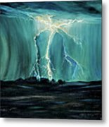 Lightning On The Prairie Metal Print