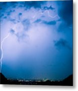 Lightning Rainbow Blues Metal Print