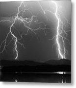 Lightning Storm 08.05.09 Bw Metal Print