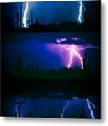 Lightning Storm Progression Metal Print