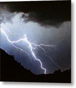 Lightning Strike Bump In The Road Metal Print
