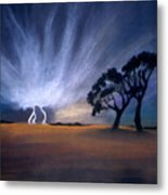 Lightning Strike Metal Print