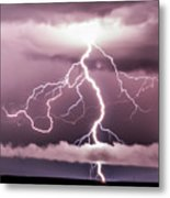 Lightning Strikes Metal Print