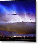 Lightning Thunder Head Cloud Burst Boulder County Colorado Im39 Metal Print