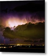 Lightning Thunderstorm Cloud Burst Metal Print