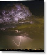 Lightning Thunderstorm With A Hook Metal Print