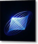 Lightpainting Metal Print