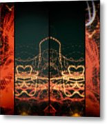 Lightpainting Quads Art Print Photograph 1 Metal Print