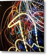 Lightpainting Single Wall Art Print Photograph 3 Metal Print