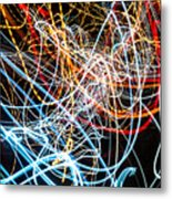 Lightpainting Single Wall Art Print Photograph 9 Metal Print