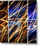 Lightpainting Triptych Wall Art Print Photograph 6 Metal Print
