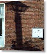 Lightpost Shadow Metal Print