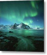 Lights Above Lofoten Metal Print
