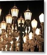 Lights At The Lacma La County Museum Of Art 0769 Metal Print