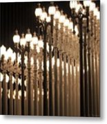 Lights At The Lacma La County Museum Of Art 0773 Metal Print