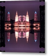 Lights Buildings And Bridges Metal Print