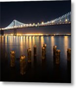 Lights By The Bay Metal Print