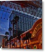 Lights In Down Town Las Vegas Metal Print