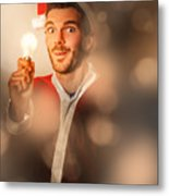 Lights Of Christmas Ideas Metal Print