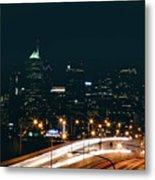 Lights Of Philadelphia Metal Print